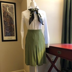 Boden A-Line Pleated Knit Skirt